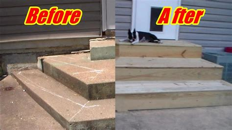 deck steps  crooked concrete youtube