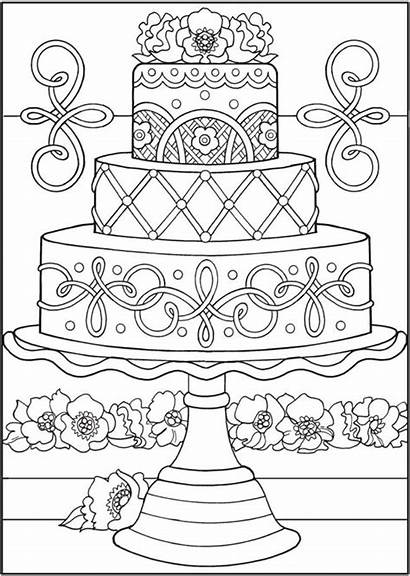 Coloring Pages Adult Rocks Easy Cake Sweets