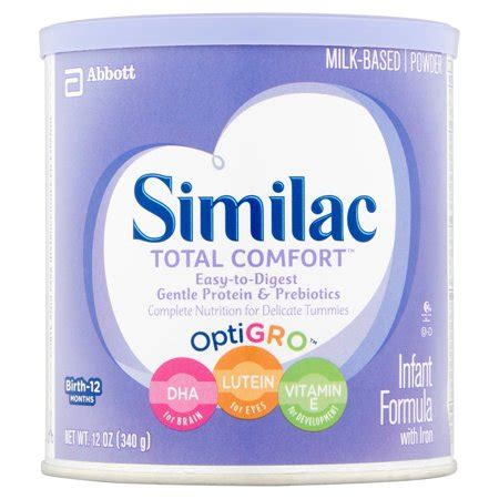total comfort formula similac total comfort infant formula with iron powder 12