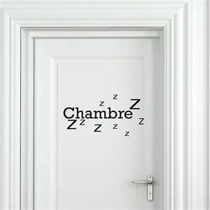 Prix D Une Porte De Chambre : sticker porte chambre zzz stickers citation texte ~ Premium-room.com Idées de Décoration