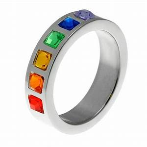gay pride wedding band rainbow ring gay pride by With gay pride wedding rings