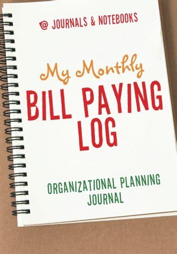 monthly bill organizer notebook dated bills calendar we know how to do it