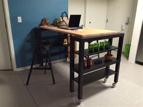 kitchen island carts with seating high top gerton slab kitchen island ikea hackers