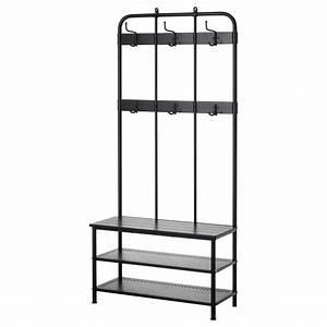 Meuble Porte Manteau Ikea : pinnig coat rack with shoe storage bench black 193 cm ikea ~ Teatrodelosmanantiales.com Idées de Décoration