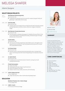 20 eye catching designer resume templates to get a job With interior designer cv