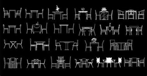bloques autocad muebles sillas mesas dwgautocadcom