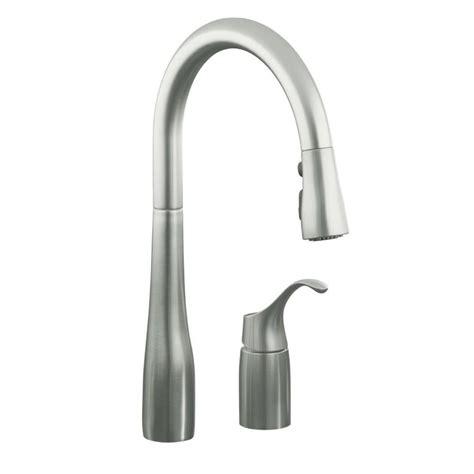 shop kohler simplice vibrant stainless 1 handle pull down
