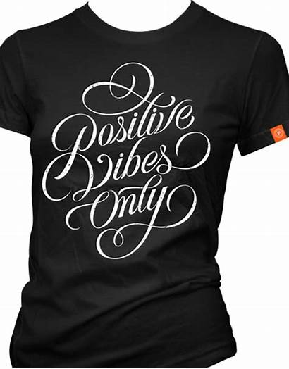 Vibes Positive Lettering Womens