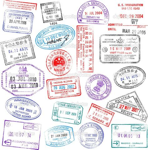 vintage passport stamps tattoo passport template