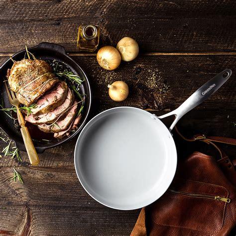 greenpan venice pro covered skillet  cookbook  turner  cutlery