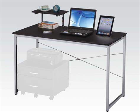 modern computer desk in black finish by acme furniture ac92086
