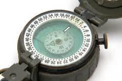 Prismatic Compass Stock Photo - Image: 55992108