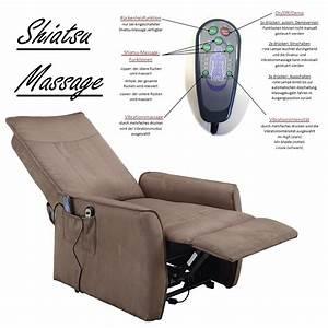 Sessel Mit Massagefunktion : fernsehsessel mit aufstehhilfe und shiatsu massagefunktion elektrisch verstellbarer tv ~ Buech-reservation.com Haus und Dekorationen
