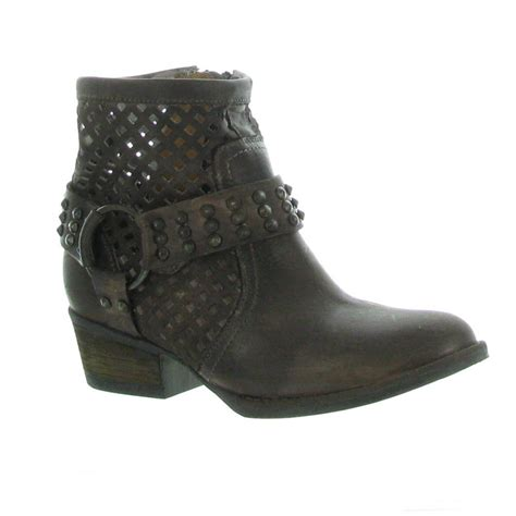 Lazer Boot by Volatile Deluxe Laser Cut Ankle Boot Western Boots