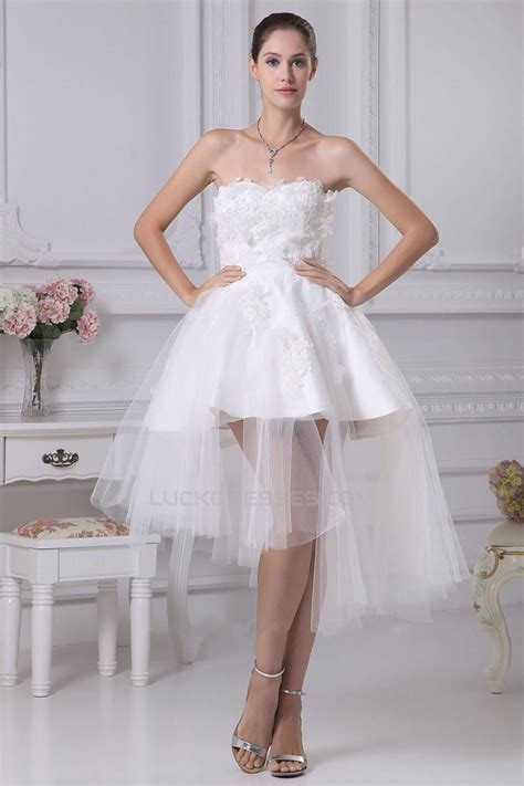shortmini applique tulle bridal wedding dress wd