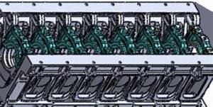 Design Model Of A Large Internal Combustion Engine Block