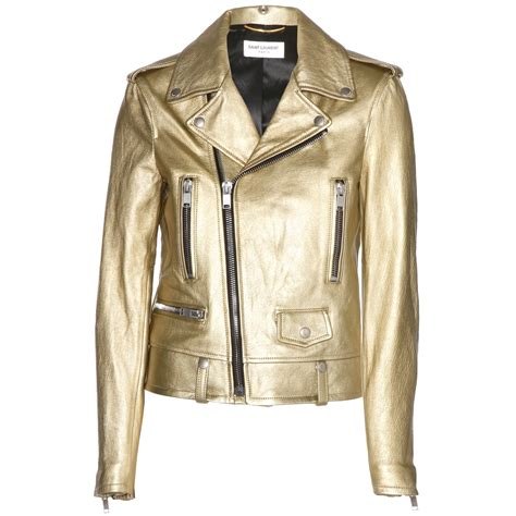 How to wear your Saint Laurent gold Metallic Leather Biker