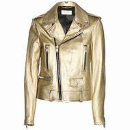 Metallic Gold Leather Jacket for Women