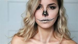 Maquillage Squelette Facile : maquillage d 39 halloween squelette glamour sans ~ Dode.kayakingforconservation.com Idées de Décoration