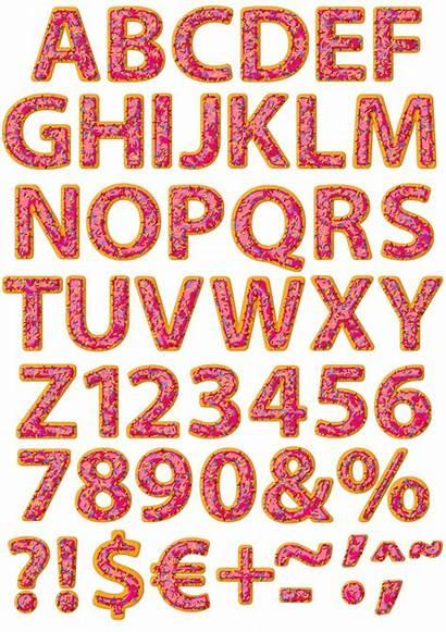 Donut Font Donuts Alphabet Fonts Handmadefont Lettering