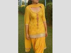 pretty yellow patiala suit 1 Indian Fashion Modern
