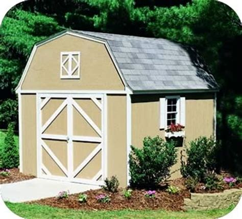 10x12 Barn Shed Kit by Handy Home Berkley 10x12 Wood Storage Shed Kit 18512 0