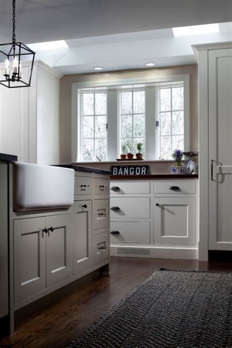 tone painted shaker kitchen crystal cabinets