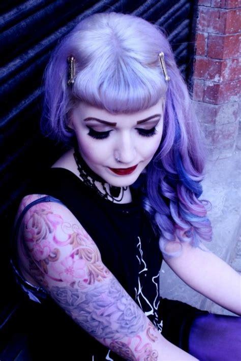 pastel goth purple hair colors ideas