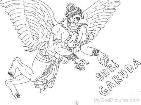 Kleurplaat Garuda by Lord Garuda Ji God Pictures