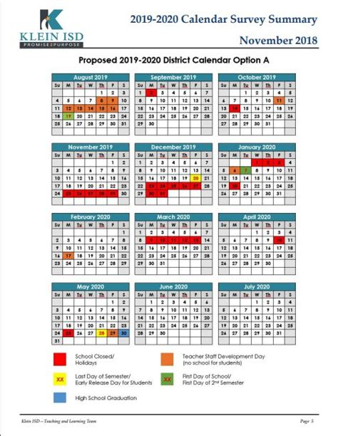 calendar survey results klein isd newsroom