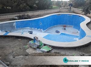 Revestimiento de Gresite en una piscina de Obra Hidalgo y Recio Piscinas