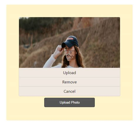 jquery floating div like profile image upload using jquery ajax phppot