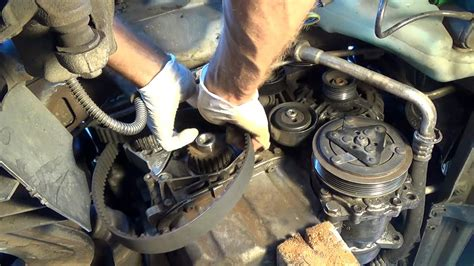 timing belt replacement  coolant pump tutorial hd