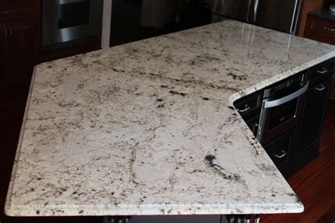 curved granite kitchen counter color white galaxy all