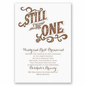 Still the one vow renewal invitation invitations by dawn for Free printable wedding vow renewal invitations