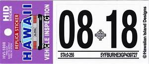 Hawaii vehicle inspection sticker kamos sticker for Kitchen cabinets lowes with state inspection sticker