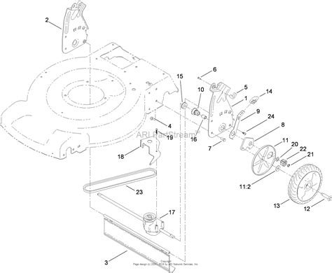 toro 20352 22in recycler lawn mower 2010 sn 310000001 310999999 parts diagram for