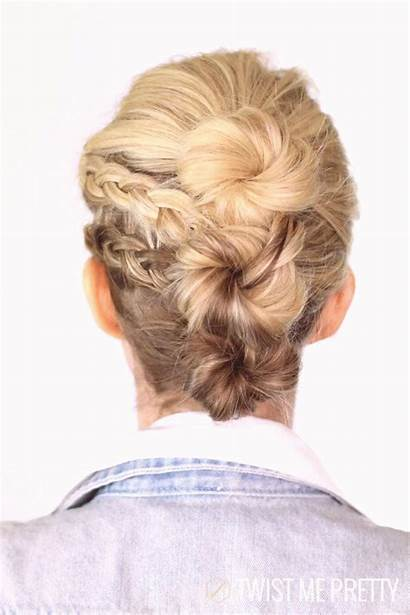 Hairstyles Updo Braided Updos African American Round