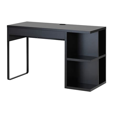 ikea micke bureau micke desk with integrated storage black brown ikea