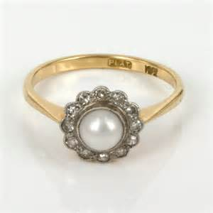 pearl wedding rings antique collections of vintage gold pearl wedding rings wedwebtalks