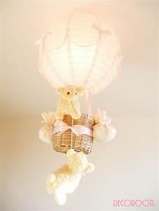 Lustre Bébé Fille : lampe montgolfi re enfant b b mouton fille rose d coration chambre enfant b b luminaire ~ Teatrodelosmanantiales.com Idées de Décoration