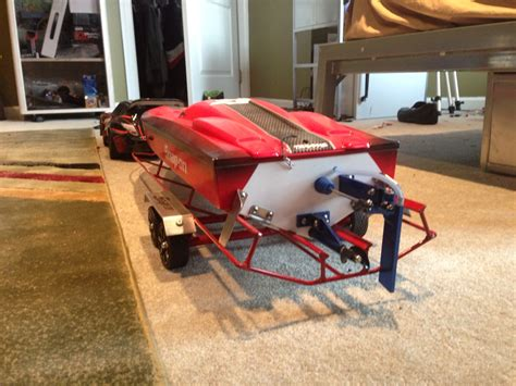 Traxxas Rc Boat Trailer by Traxxas Spartan Snap On With Custom Trailer