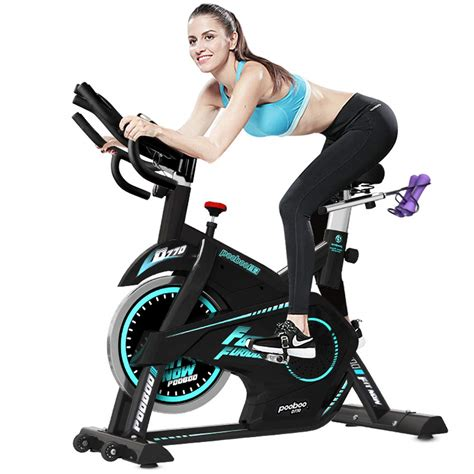 pooboo Pro Indoor Cycling Bike, Belt Drive Exercise Bike ...
