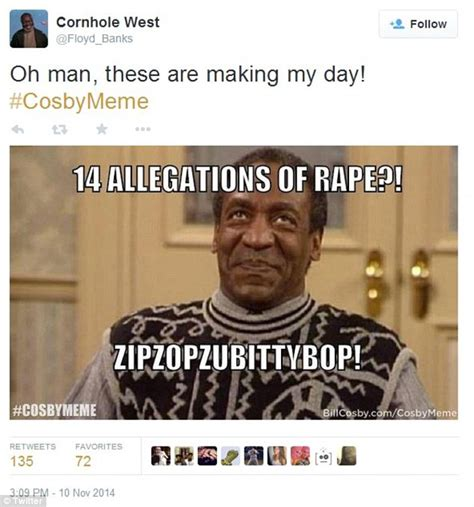 Bill Cosby Rape Memes - bill cosby will not dignify rape claims with an answer says lawyer daily mail online