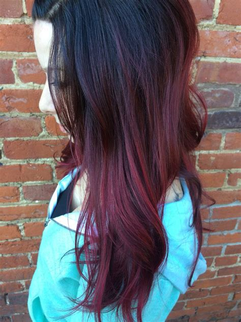 Dark Brown To Red Ombré Hair Stuff Dyed Hair Red