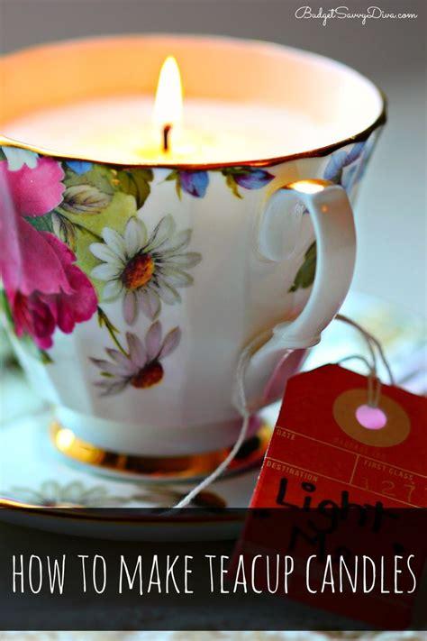 teacup candles ideas  pinterest
