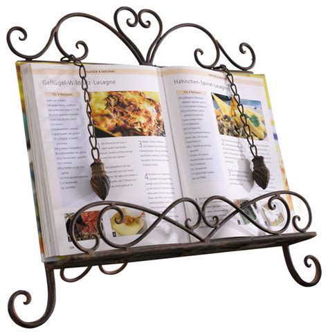 Antique Metal Cookbook Stand, Book Holder, Easel, Weighted