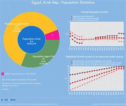 Population Egypt Statistics Infographic Total Indicator