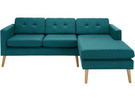canapé bleu conforama canapé d 39 angle fixe 4 places en tissu yonis coloris bleu