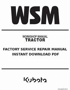 Kubota Kx61-3 Excavator Service Manual Download